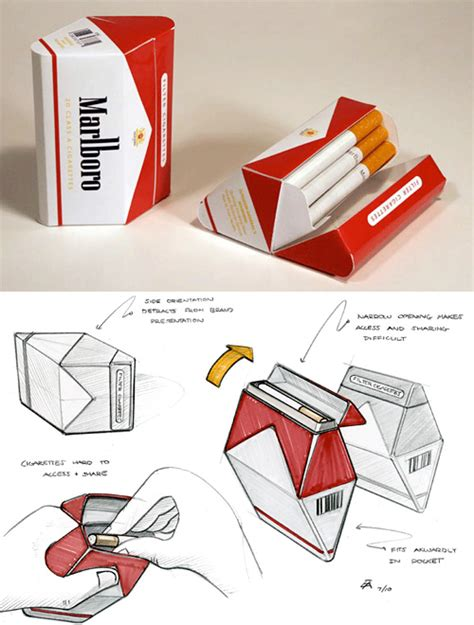 How To Make A Paper Cigarette Box - redesigned cigarette packaging could simply make