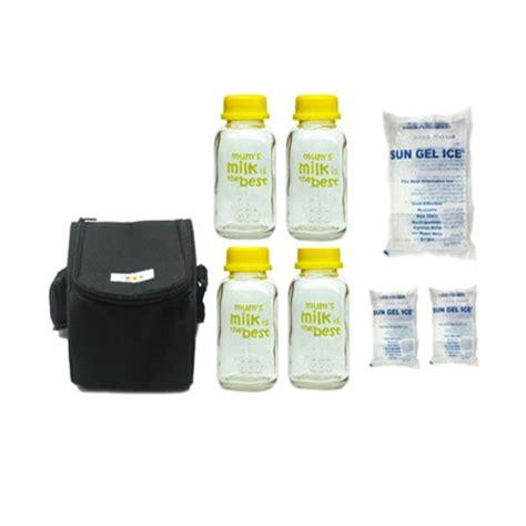 Rbs Cooler Bag Gel Hitam jual baby pax hitam cooler bag botol kaca asi gel