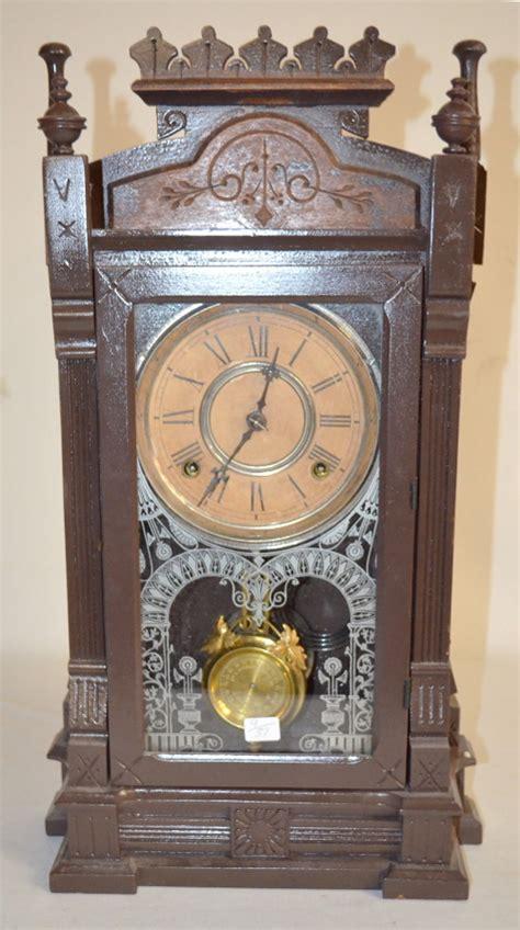 Gilbert Kitchen Clock by Antique Gilbert Quot Dacca Quot Walnut Kitchen Clock T S With An Un