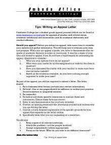 Appeal Letter For School Admission Exle How To Write An Appeal Letter For College Admission Decision