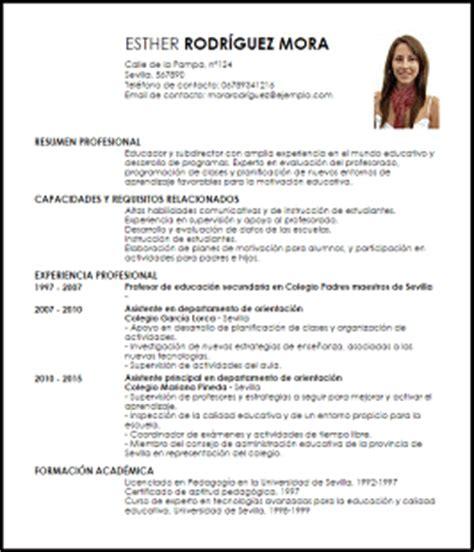 Modelo Curriculum Vitae Ministerio De Educacion Modelo Curriculum Vitae Asistente Principal Educativo Livecareer