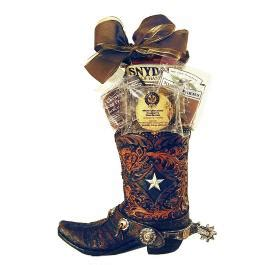 cowboy boot gift planter gift baskets for him