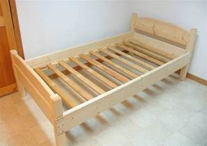 Simple Bed Frame Plans Building A Bed