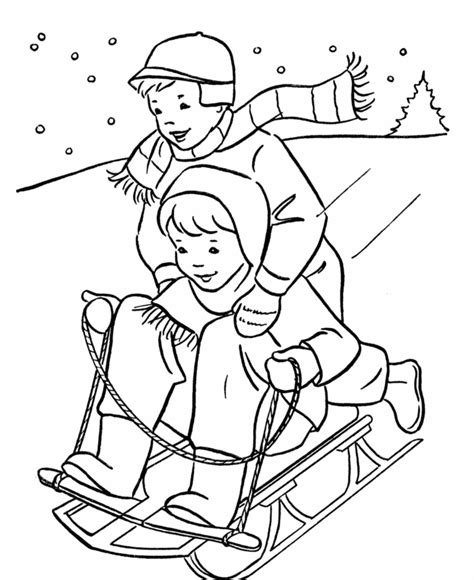 snow coloring pages dog and kid in winter grig3 org free printable winter coloring pages for kids