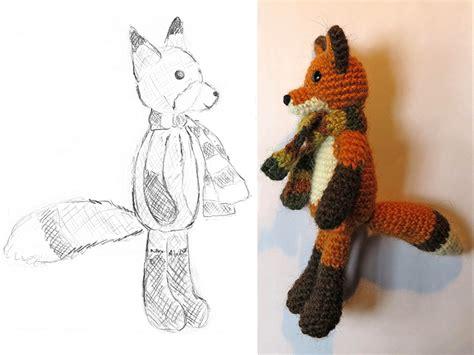 crochet pattern drawing flam the fox crochet pattern son s popkes