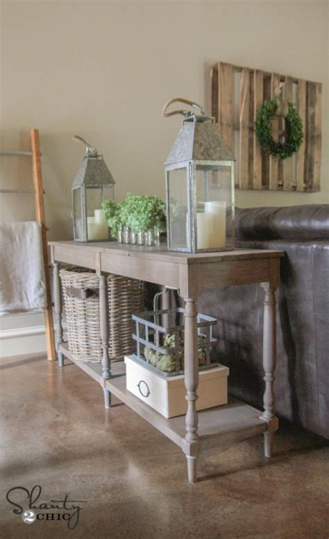 shanty 2 chic console table features osborne bar stool