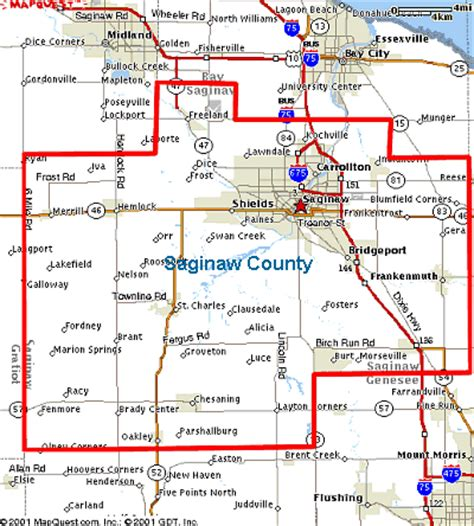 map of saginaw county michigan michigan saginaw county 171 every county