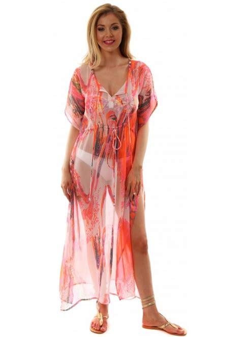 Chaftan Maxi Chiffon pretty pink maxi kaftan dress for the on