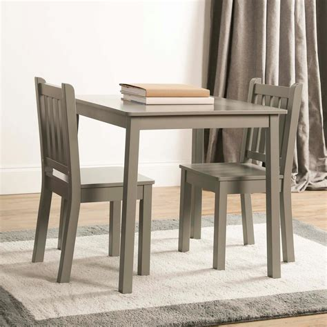 desk and chair set for students tot tutors 3 piece grey kids large and chair set