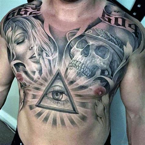 chest tattoo ideas for black men 50 wonderful chest tattoos for