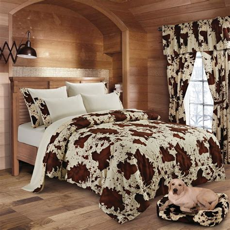 Cowhide Comforter Set by Regal Comfort Rodeo 7pc Comforter Sheets Bedding