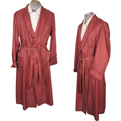 diamond pattern vintage blue dress vintage 1950s mens dressing gown in red with diamond