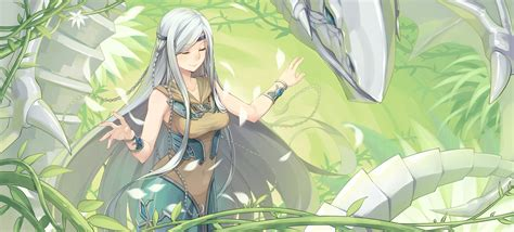 download 2735x1240 anime girl yu gi oh blue eyes white