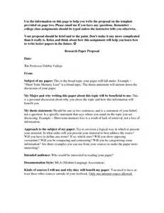 Topic Proposal For Research Paper 7 Research Paper Proposal Template Timeline Template