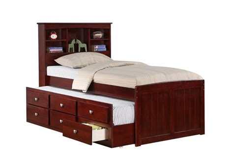 captians bed captain s bed with trundle and drawers cappuccino ebay