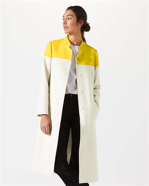 color block coat colour block coat jigsaw