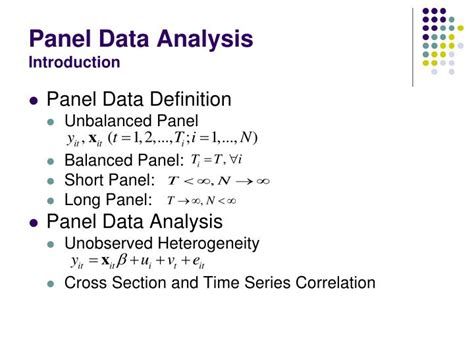 Define Cross Sectional Data by Ppt Panel Data Analysis Using Gauss Powerpoint