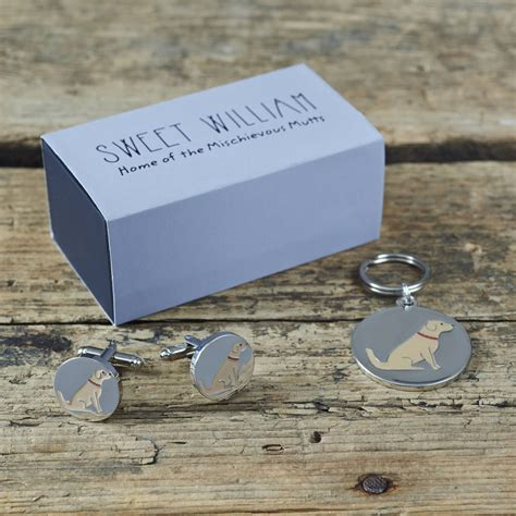 golden retriever cufflinks and me golden retriever cufflinks and tag by sweet william designs