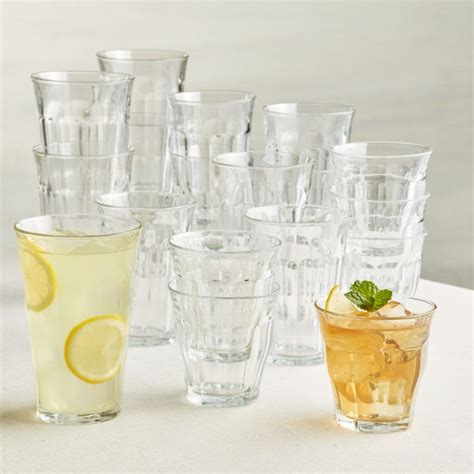 Crate And Barrel Barware by Duralex 174 Picardie Glass Tumblers Set Of 18 Crate And Barrel