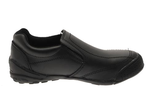 formal sports shoes boys black leather school shoes flat slip on formal