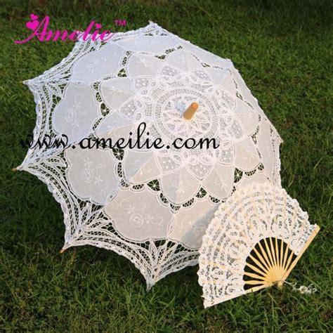 beach umbrella with fan aliexpress com buy battenburg lace parasol and fan sun