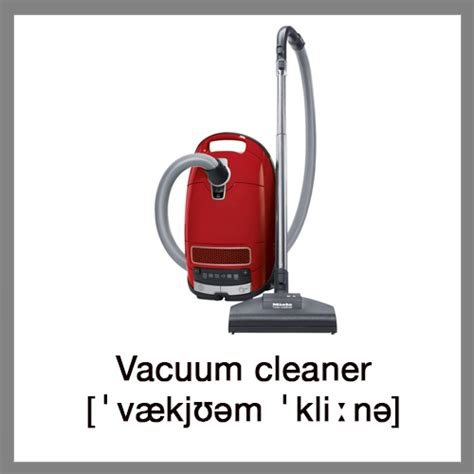 Vacuum Word Learn Words Home Appliances