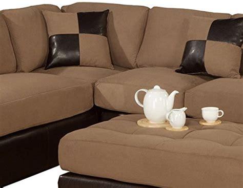 faux leather microfiber sofa bobkona hungtinton microfiber faux leather 3 piece