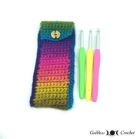 crochet hook bag pattern crochet hook pouch allfreecrochet com