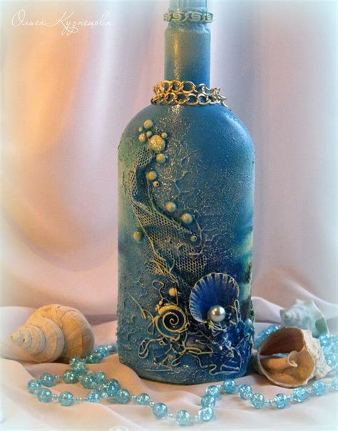 Decoupage On Glass Bottles - decoupage bottle