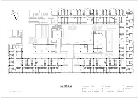 commercial complex floor plan gallery of hangzhou duolan commercial complex bau