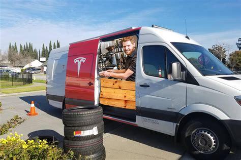 tesla machines mobile tesla repair vans come equipped with espresso machines