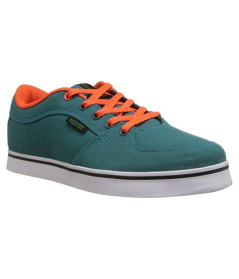 united colors of benetton green canvas shoe shoes price in