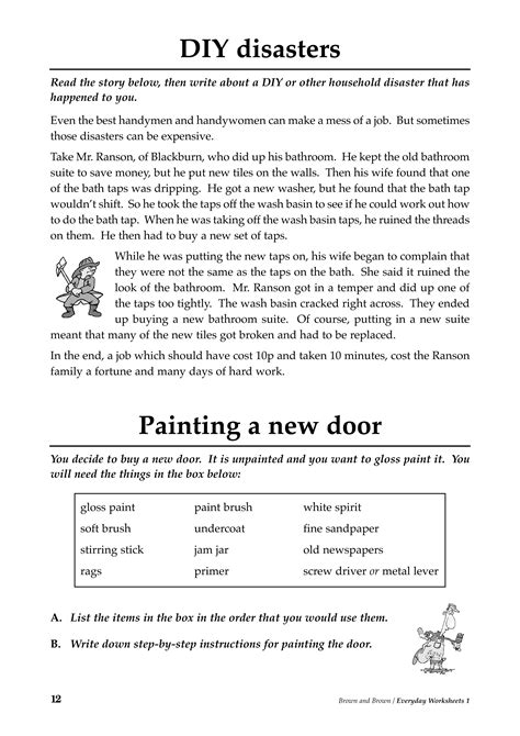 Literacy Worksheets by Everyday Worksheets Book 1 The Literacy