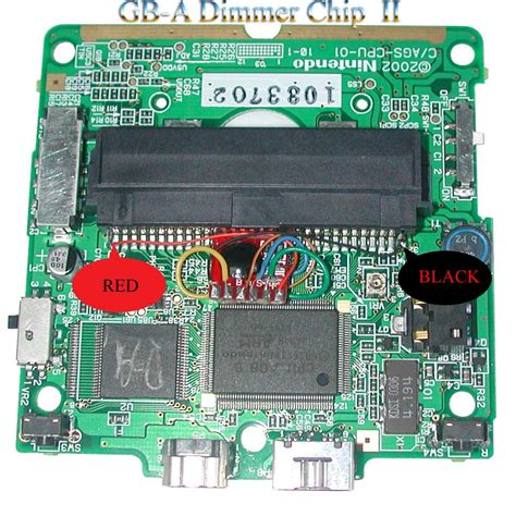 gameboy micro mod chip gba sp dimmer mod chip