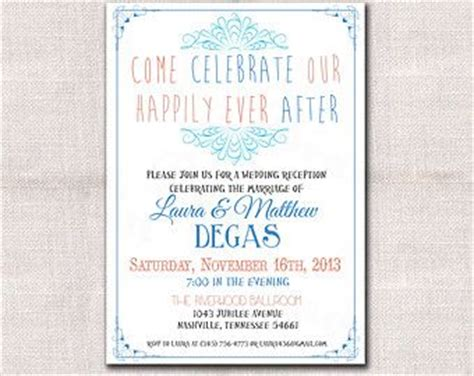content for wedding reception invitation wedding reception only invitation wording wedding