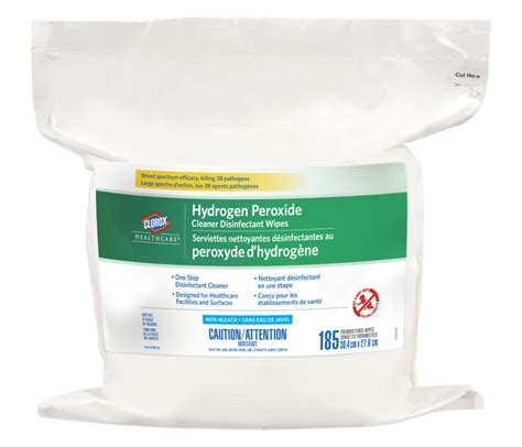 clorox healthcare hydrogen peroxide cleaner disinfecting wipes  ct bucket bowers medical