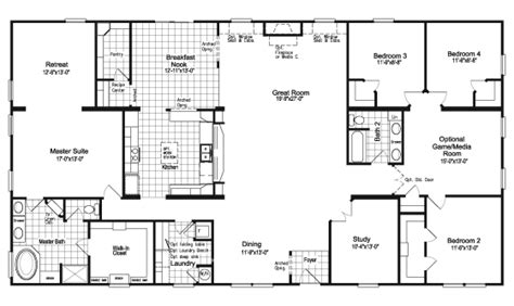 6 bedroom modular home floor plans the floor plan for the evolution model home by palm harbor