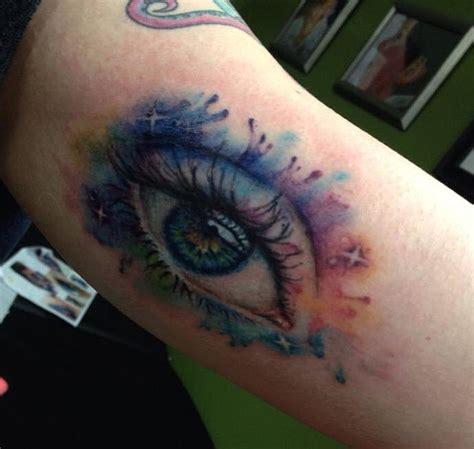 cynthia tattoo watercolor eye mixed media by cynthia hart