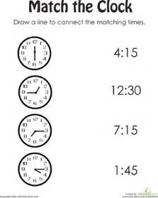 match the clock ii worksheet education com