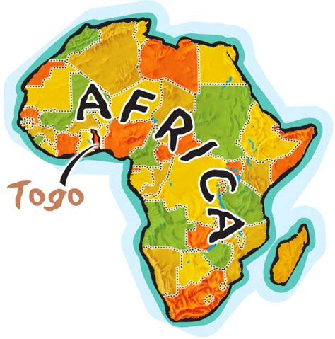 africa map togo togo afrika map