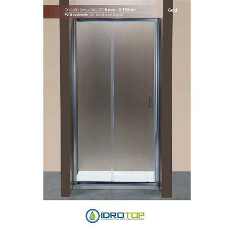porte doccia cristallo prezzi box doccia porta scorrevole 100 cristallo trasparente 6mm