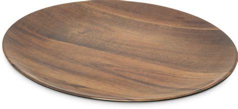 eag0469 epicure 174 acacia grain oval platter 18 quot x 15 quot dark woodgrain carlisle foodservice