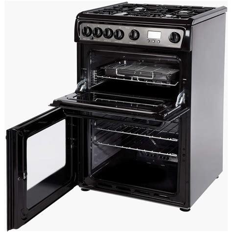 Oven Gas Ukuran 60 Cm hotpoint hag60k 60cm oven gas cooker with 4 hotplate burners in black 5016108624104 ebay