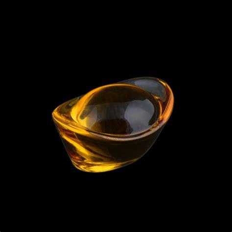 lucky home feng shui yellow glass gold ingots paperweight