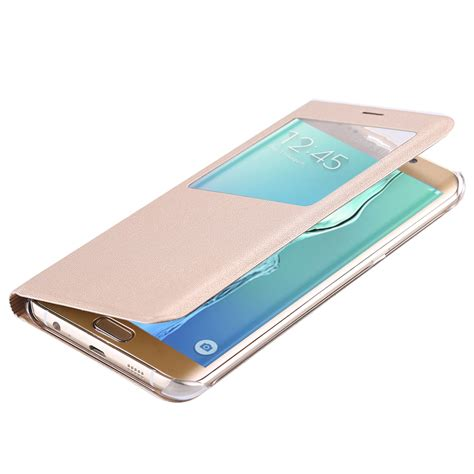 Samsung Galaxy S6 Svi Edge Plus G928 Stylish Stpu Soft fashion window flip leather for samsung galaxy s6