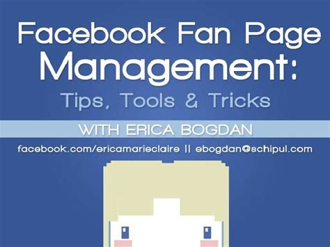 fb fan page facebook fan page management tips tools and tricks