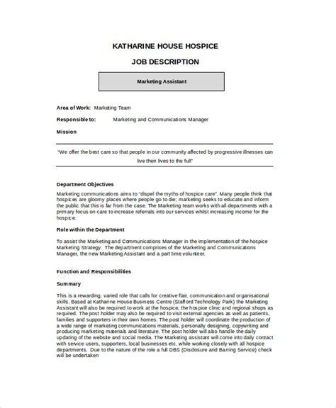 marketing assistant description operations assistant description docshare tips