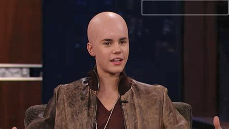 jimmy kimmel hair loss justin bieber gets shiny bald head on jimmy kimmel my
