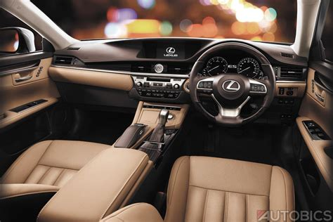 lexus es interior 2017 lexus es300h hybrid luxury sedan launched in india at