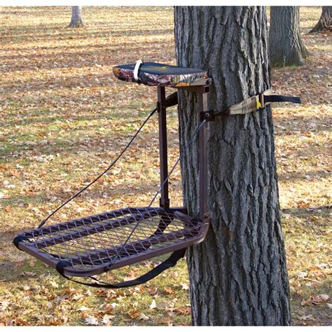 foot pump tree holder river s edge 174 baby big foot hang on stand 158931 hang on tree stands at sportsman s guide